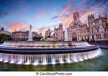 Madrid City Hall - Madrid, Spain at Plaza de Cibeles.