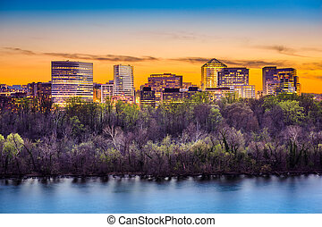 Rosslyn Skyline - Rosslyn, Arlington, Virginia, USA city...