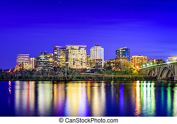Arlington Skyline - Rosslyn, Arlington, Virginia, USA city...