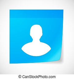 Sticky note icon with a male avatar