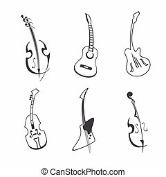 Guitar set illustration