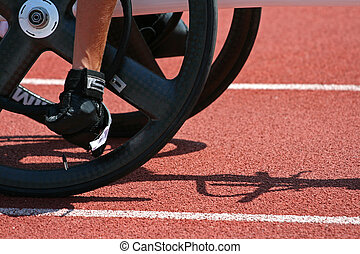 My seppedy wheels - A close view from a male athlete getting...