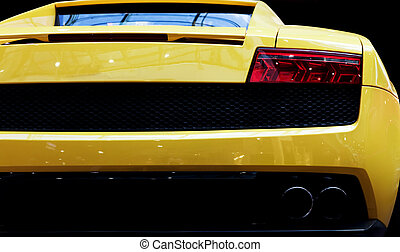 Modern fast car close-up background. Luxury, expensive,...