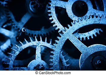 Grunge gear, cog wheels background Industrial science,...