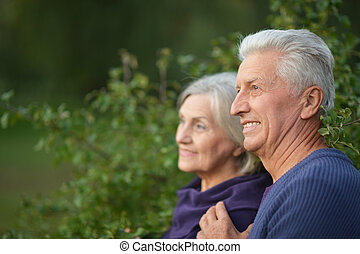 Happy Mature couple - Portrait of a happy Mature couple in...