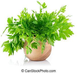 Bunch fresh parsley