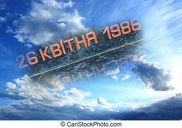the date of Chernobyl catastrophe in the sky