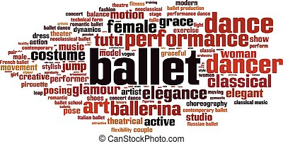 Ballet word cloud concept. Vector illustration