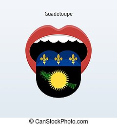 Guadeloupe language Abstract human tongue Vector...
