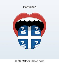 Martinique language Abstract human tongue Vector...