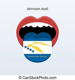 Johnston Atoll language. Abstract human tongue. Vector...