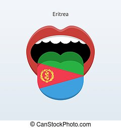 Eritrea language Abstract human tongue Vector illustration...