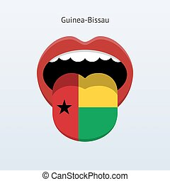 Guinea-Bissau language. Abstract human tongue. Vector...