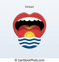 Kiribati language Abstract human tongue Vector illustration...