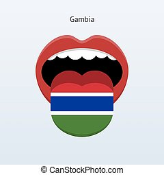 Gambia language Abstract human tongue Vector illustration