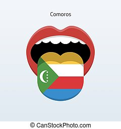 Comoros language Abstract human tongue Vector illustration...