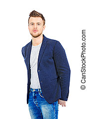 jeans and jacket - Casual young man wearing jeans and jacket...
