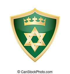 hebrew Jewish Star of magen david shield vector illustration