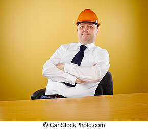 Engineer in office - Male engineer in office, he wearing a...