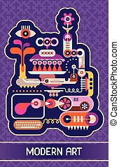 Modern Art vector illustration - Abstract vector...