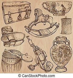 Objects - An hand drawn vectors Converted - OBJECTS set no12...