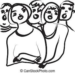 are you singing? - singing kids, people