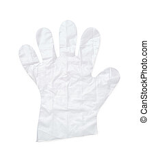Plastic glove - Disposable plastic glove isolated on white