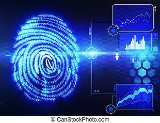 掃描, 技術, 指紋