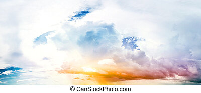 Art summer background. Tropical sunrise