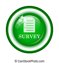 Survey icon. Internet button on white background.