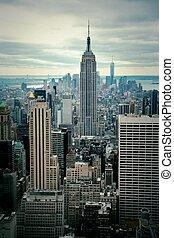 Manhattan view - Manhattan skyline view