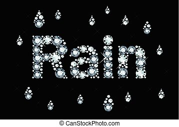 Diamond Word Rain  - Word Rain Made Of Shiny Diamonds