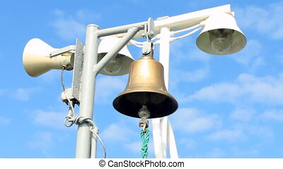 ships bell barely swaying in the wind
