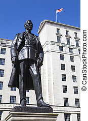 Hugh Trenchard Statue in London - A statue of Hugh Trenchard...