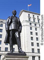 hugh, Trenchard, estátua, em, Londres,