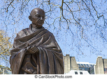 Mahatma Gandhi Statue in London - A statue of Mahatma Gandhi...