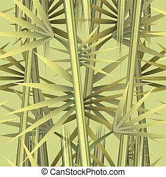 Bamboo Pattern - Bamboo seamless pattern drawn in art style