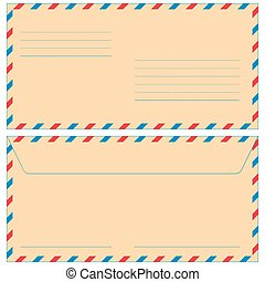 Airmail envelope for various design