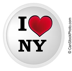 I love new york - nice illustration with heart and text I...