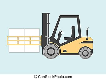 Forklift bale clamp. Vector illustration. EPS 10. Opacity