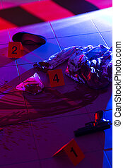 Collection of evidences on a crime scene