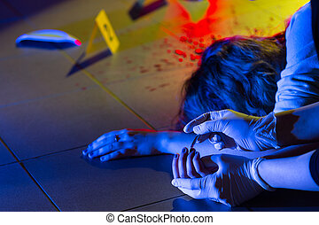 Crime scene investigation - Collection of evidence in crime...