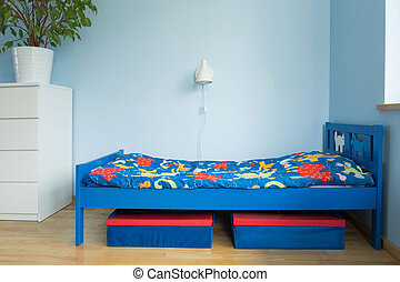Blue room of a boy - Picture of blue room designed ideal for...