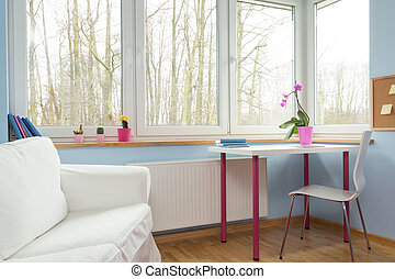 Perfect room for girl - Horizontal view of perfect room for...