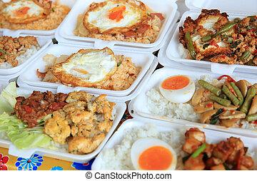 thai food - fast food selling on street...