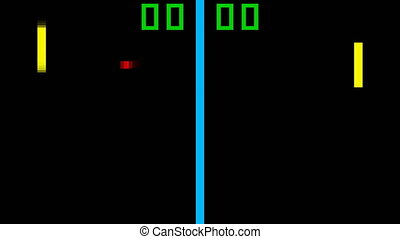 TV Tennis retro game pixelated - TV Tennis retro style game...