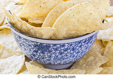 Tortilla chips - Tortilla chips in a bowl