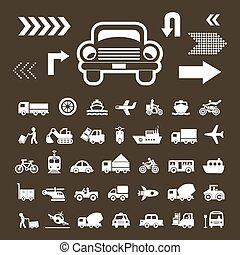basic icon for transport - vector basic icon for transport