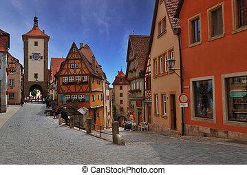 Rothenburg - Medieval town of Rothenburg in Bavaria
