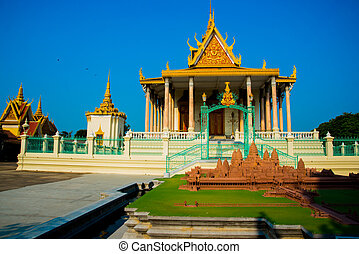 Religious Temple. - Buddhist temple in the capital city of...